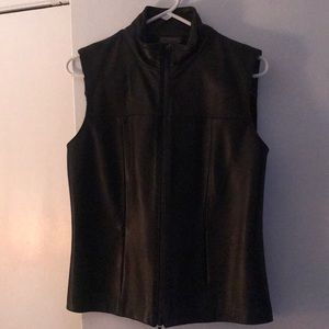 Leather /cloth vest